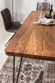 Finebuy Esstisch Massiv Esszimmertisch Holztisch Sheesham Holz Tisch