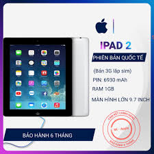 Máy tính bảng iPad 2 bản 3G lắp sim full phụ kiện giá cạnh tranh