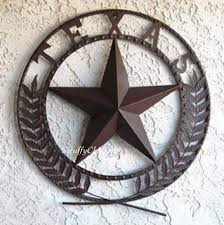awesome big texas star metal wall plaque chocolate finish metal