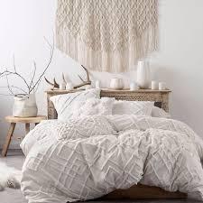 description linen house sanura white quilt cover set