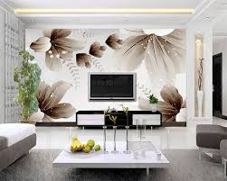 Aangepaste Foto Wallpaper Moderne 3d Muur Behang Bloemen Art Design