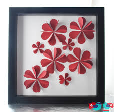 Extra Large Flower Paper Punch 3d Flower Art Using Paper Hearts The Love Nerds