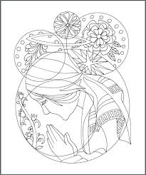Rosary Coloring Page Our Lady Of The Rosary Catholic Coloring Page