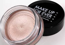 a shimmery finished cream eyeshadow by make up for ever