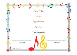 Funny Music Award Certificate Template Free School Templates For ...