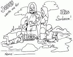 Have crayons or colored markers and blank sheets of paper on the tables before the as the kids arrive, tell them to think of someone who is very special to them, and then introduction: Jesus And Children Coloring Pages Coloring Home