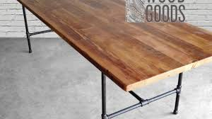 desk tops furniture. Brilliant Wood Desk Tops Throughout Dining Table Made With Reclaimed Top And Iron Pipe Legs Furniture: Furniture E