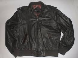 men s vintage 1970s members only cafe racer leather motorcycle jacket