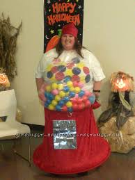 cool homemade gumball machine costume