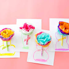 Tissue Paper Flower Instructions How To Make Tissue Paper Flower Cards With Video