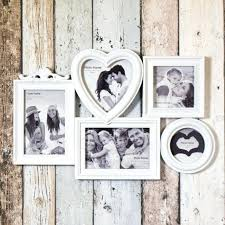 4x6 multi picture frames large white 5 aperture picture multi wall photo frame collage shabby chic