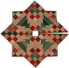 Christmas Tree Skirt Pattern Simple Christmas Patch Tree Skirt Quilt Pattern CMQ48 Christmas