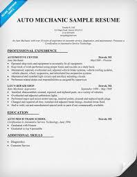 mechanic cv sample automotive technician resume