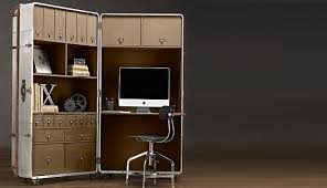 office space savers. how\u0027s this for a mobile office? old fashioned compact office design, carried by restoration hardware, was modeled after an early 20th century steamer space savers off grid quest