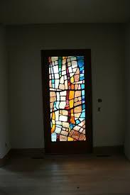 dalle de verre front door interior