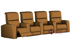 hifi 4 seat leather reclining home theater seating curved