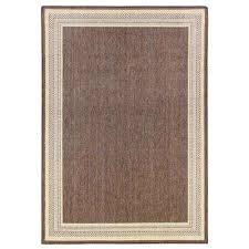 border brown flat woven weave 7 ft x 11 ft indoor outdoor area