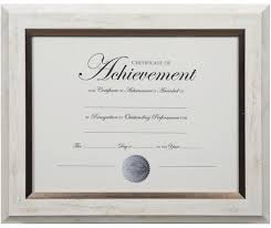 white certificate frame dax two tone document frame 8 1 2 x 11 inches white with bronze