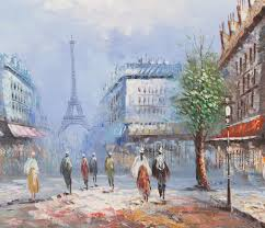 paris in spring ine burnett oil paintings
