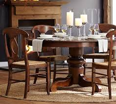 pottery barn style dining table:  tivoli extending pedestal dining table c