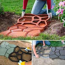 diy driveway paving pavement mould concrete step stone path walk maker molds