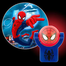 projectables marvel spiderman automatic led night light