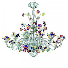 polychrome murano glass 12 lights chandelier intended for chandeliers prepare 7