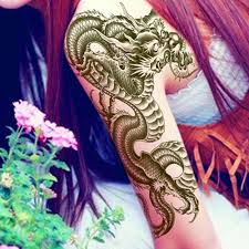Us 051 14 Offsexy Design 3d Black Dragon Temporary Tattoo Removable Waterproof Arm Leg Body Art Sticker Cool Body Art Fashion For Unisex In