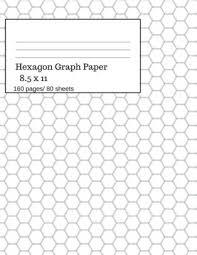 Hexagon Graph Paper Hexagonal Paper Notebooks Hexagon Small Graph