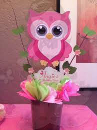 Pretty In Pink Owl Cupcake Toppers Owl Baby ShowerOwl Baby Shower Decor