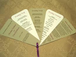 Choosing The Fan Style Of Your Wedding Programs Diy Wedding Program Fan