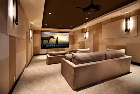 home media room designs. Home Theater As Addition To Large Modern Interior. Upholstered Furniture In The Same Color Tone Media Room Designs