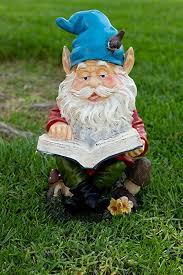 amazon alpine gnome reading a book statue 14 inch tall outdoor statues garden outdoor
