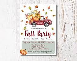 Fall Party Invites Etsy
