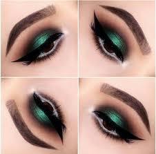 green ombre eye shadow