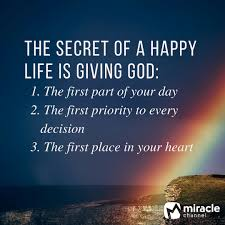 The Secret Of A Happy Life God Christian Quote 3 Shared
