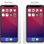 This iPhone X App Lets You Hide the Unsightly Notch from your Homescreen
