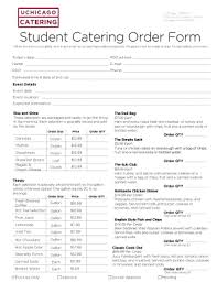 Catering Order Forms Templates - Fillable & Printable Samples For ...