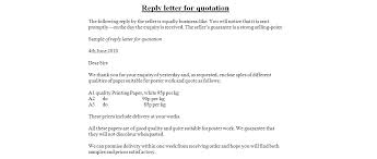 mail sample mail format for sending quotation creative visualize reply letter