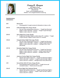 the best and impressive dance resume examples collections how to dance resume for audition