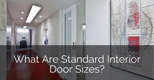 what are standard interior door sizes