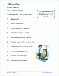 We have a set of 26 free printable phonics sheets for preschool children here covering the alphabet. Direct Objects Worksheets K5 Learning