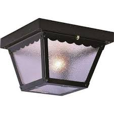 1 light black outdoor ceiling mount