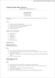 Resume Samples For Graphic Designer Resume Examples For Graphic
