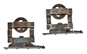matching set of all original and pletely intact c 1900 s american antique residential pocket door track hangers or rollers