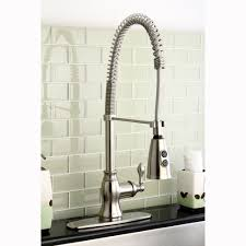 Kitchen Pull Down Faucet Modern Spiral Pull Down Satin Nickel Kitchen Faucet Cliff Kitchen