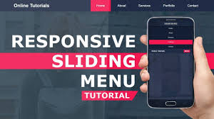 How To Design A Menu Bar In Html Responsive Sliding Menu Mobile Navigation Bar With Html Css And Javascript Responsive Design
