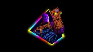 Avengers Neon Wallpaper 4k