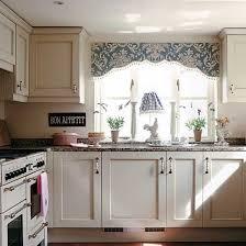 white country cottage kitchen. White Vintage Style Kitchen, French Kitchen Sign, Cute Valance. Cottage KitchensCountry Country