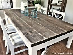 lovely wood kitchen table diy dining room table with 2 8 boards 4 descrip